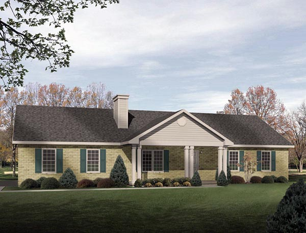 Ranch House Plan 49072 Elevation