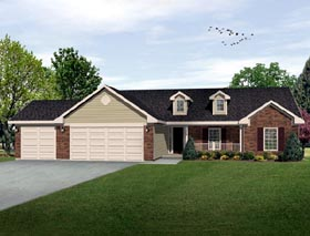 Country House Plan 49075 Elevation