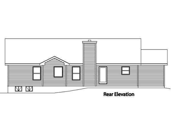 Country House Plan 49075 Rear Elevation