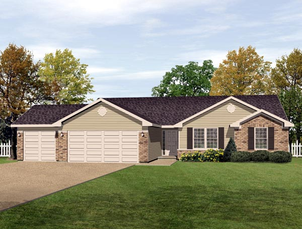 Ranch House Plan 49076 Elevation