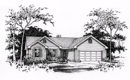 Ranch House Plan 49080 Elevation