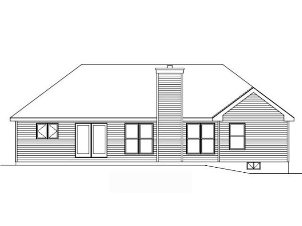 Traditional House Plan 49081 Rear Elevation