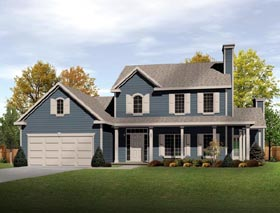 Country House Plan 49088 Elevation