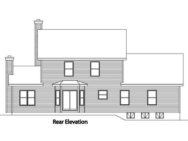 Country House Plan 49088 Rear Elevation
