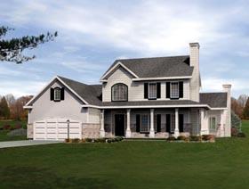 House Plan 49091 Elevation