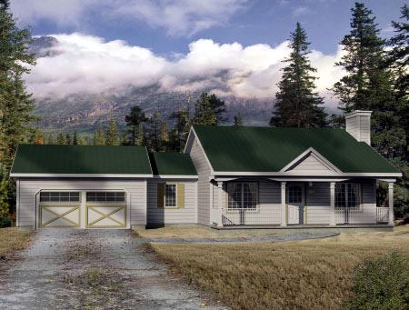 House Plan 49093 Elevation