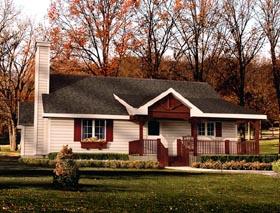 House Plan 49096 Elevation