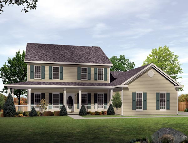 House Plan 49102 Elevation
