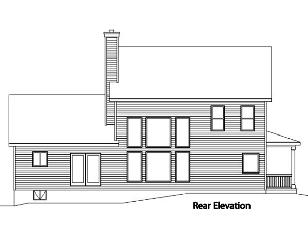 House Plan 49102 Rear Elevation