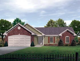 House Plan 49107 with 3 Beds, 3 Baths, 2 Car Garage Elevation