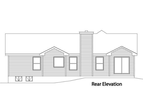 House Plan 49107 Rear Elevation