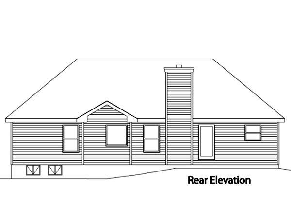 House Plan 49110 Rear Elevation