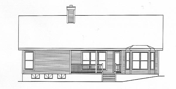 Ranch House Plan 49113 Rear Elevation