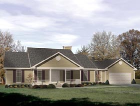 Ranch House Plan 49116 Elevation