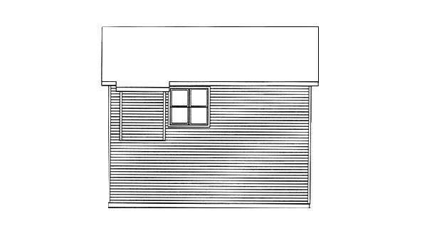 Traditional Garage Plan 49117 Rear Elevation