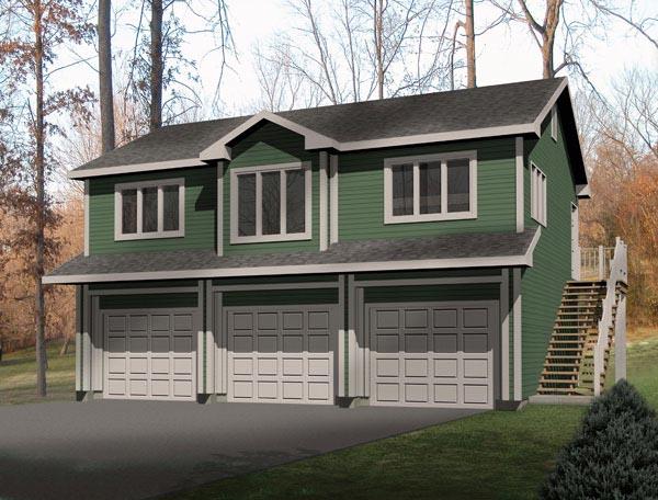 Traditional Garage Plan 49118 Elevation