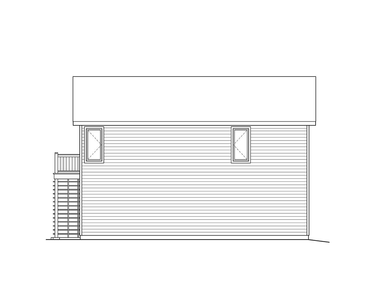 Traditional Garage Plan 49118 Rear Elevation