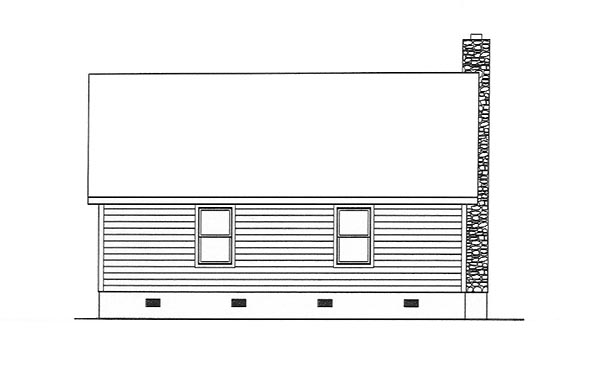 Country Ranch Rear Elevation of Plan 49122