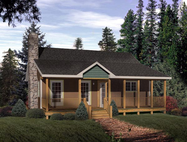 Country , Narrow Lot , One-Story , Elevation of Plan 49124