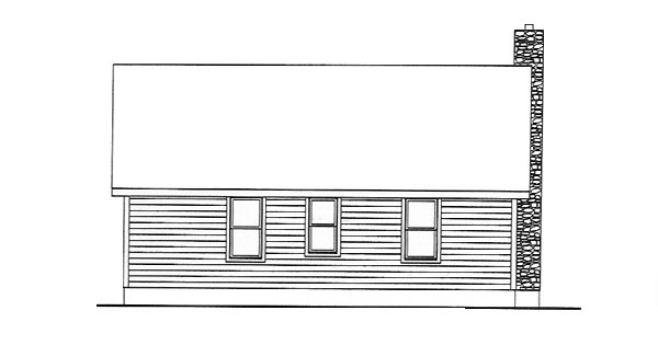 Country House Plan 49124 Rear Elevation