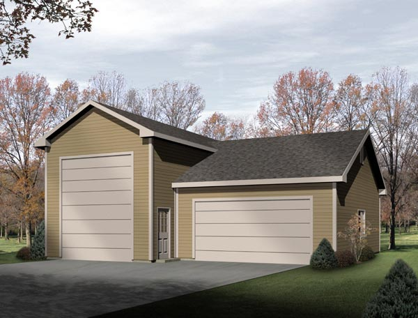 Traditional Garage Plan 49129 Elevation