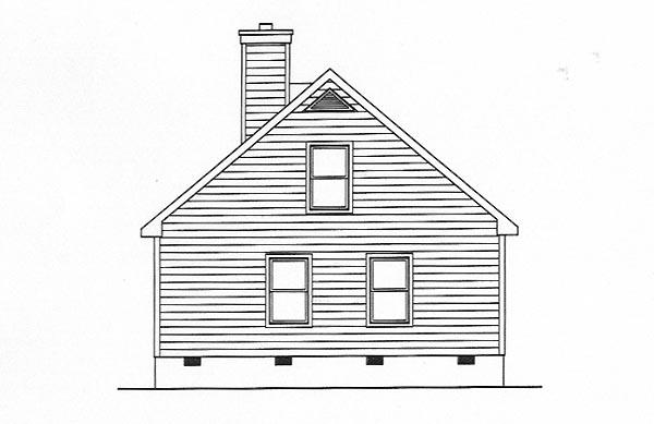 House Plan 49131 Rear Elevation
