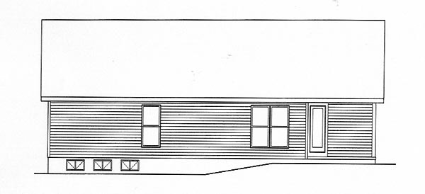 Ranch House Plan 49134 Rear Elevation