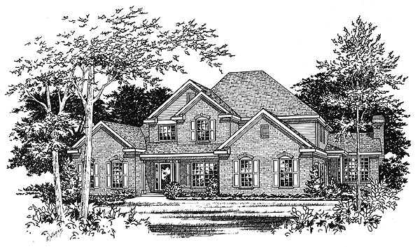 Traditional Elevation of Plan 49142