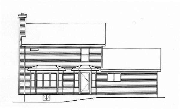 Country House Plan 49144 Rear Elevation