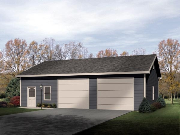 Ranch 2 Car Garage Plan 49149 Elevation