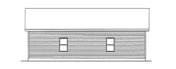 Ranch 2 Car Garage Plan 49149 Rear Elevation