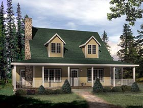 Cape Cod House Plan 49152 Elevation