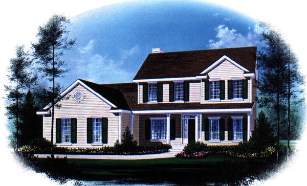 House Plan 49155 | Country Style Plan with 2356 Sq Ft, 4 Bedrooms, 2 Bathrooms, 2 Car Garage Elevation