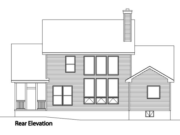 Traditional House Plan 49158 Rear Elevation