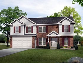 Country House Plan 49159 with 4 Beds, 4 Baths, 2 Car Garage Elevation