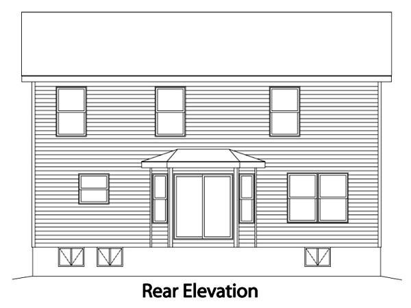 Cape Cod House Plan 49160 Rear Elevation