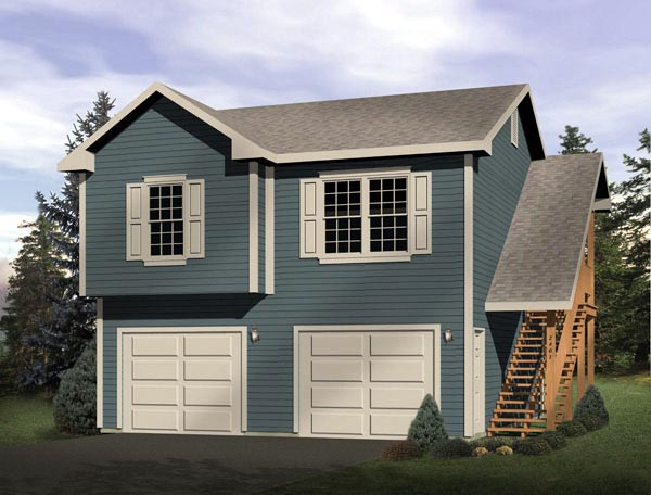 Traditional Garage Plan 49161 Elevation