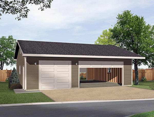 Garage plan 49162 at for 2 car detached garage kits