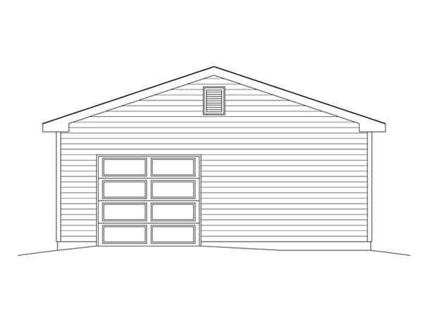 4 Car Garage Plan 49164 Rear Elevation