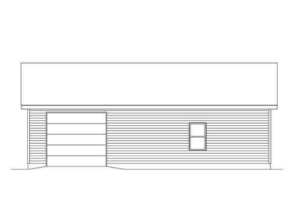 2 Car Garage Plan 49185 Rear Elevation