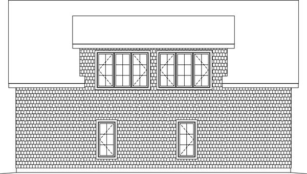 3 Car Garage Plan 49186 Rear Elevation