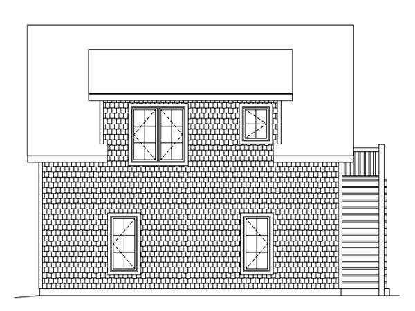 Garage Plan 49187 Rear Elevation