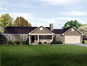 Ranch Traditional House Plan 49189 Elevation