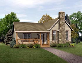 Country Ranch House Plan 49193 Elevation