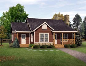 Country Ranch House Plan 49194 Elevation