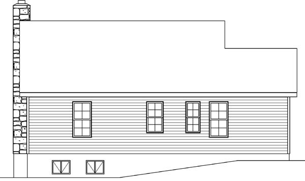Country Narrow Lot One-Story Ranch Rear Elevation of Plan 49194