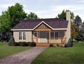Ranch House Plan 49195 Elevation