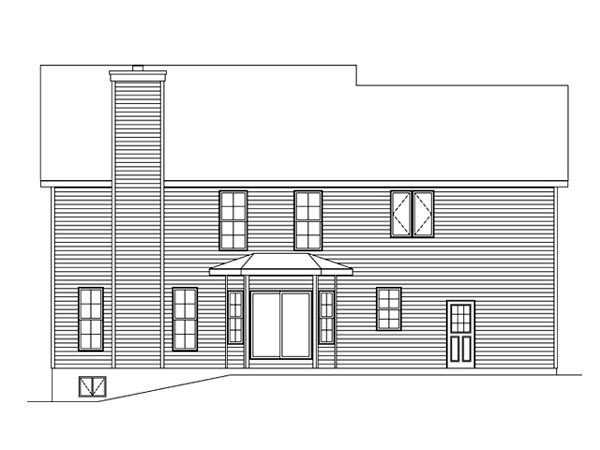 Traditional House Plan 49197 Rear Elevation