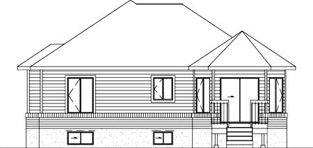 Contemporary House Plan 49200 Rear Elevation