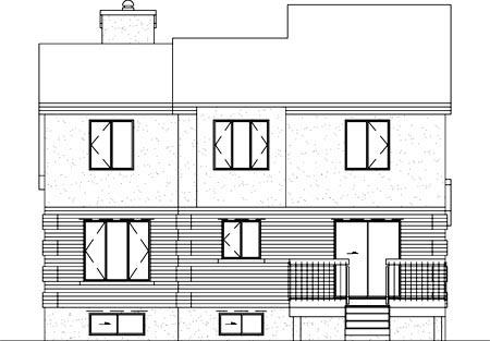 European House Plan 49201 Rear Elevation